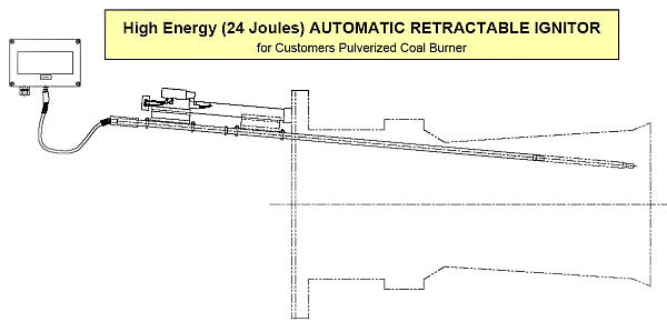 High Energy (24 Joule) Automatic Retractable Ignitor for Customers Pulverized Coal Burner