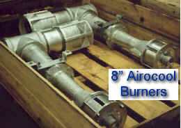 "Example of 8"" Airocool Burners -- Packed for Shipment"
