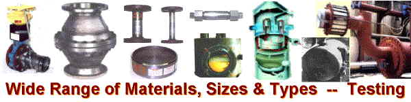 NAO Flame/Detonation Arrestors -- Wide Range of Materials, Sizes & Types -- also Specials & Testing