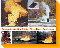 Burners, Pilots, Ignitors, Control Systems, Computers, Simulators for Airplanes, Barges, Ships, Railcars, Tanks, Pipelines, Liquid Spills - Gas, Liquid - Fire Training / Fire Schools - Safe, Clean Environmentally Friendly