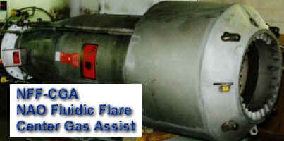 NFF-CGA (NAO Fluidic Flare - Center Gas Assist)