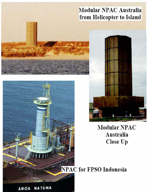 Modular NPAC Units in Australia, Circular NPAC on FPSO (Production Ship) in Indonesia