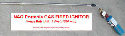 NPI - NAO Portable Ignitor -- GAS FLAME -- Lengths to 8' (Standard & Heavy Duty)