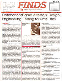 Finds - Stokes Engineering Publication Vol IV, Number 3, Third Quarter, 1991  NAO Article RP 91-9 FLAME ARRESTORS 6 Pages