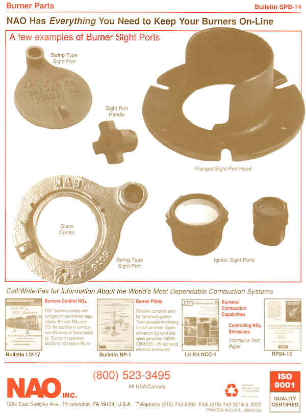 Bulletin SPB-14 Page 2 BACK --- NAO Spare Parts -- Sightports, Swing Type, hooded, Handles