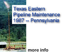 Texas Eastern Pipeline Maintenance 1987 -- Eastern Pennsylvania