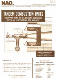 Bulletin 50 Supplement 6 -- Tandem Combustion Units