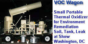 VOC Wagon at Washington, DC Environment Remediation Show -- Small Portable Thermal Oxidizer on Trailer for Soil Remediation, Tank Clean Out and Leaks