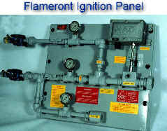 "Flamefront Ignition Panel with Manual Pilot Gas Control -- flamefront can travel 1 mile through 1"" diameter pipe"