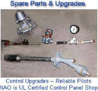 Spare Parts & Upgrades -- Burners, Controls, Pilots for NAO Equipment and Other Suppliers Equipment