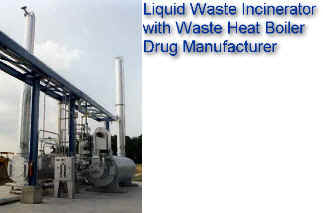 Horizontal Thermal Oxidizer for Spent Alcohol from Drug Manufacturing -- Energy Recovery from Waste Heat Boiler